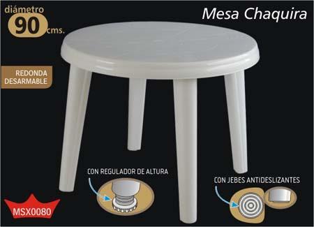 Mesa De Plástico Chaquira
