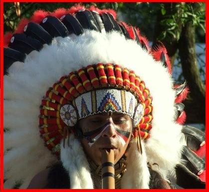 Penachos De Indios Americanos Con Plumas