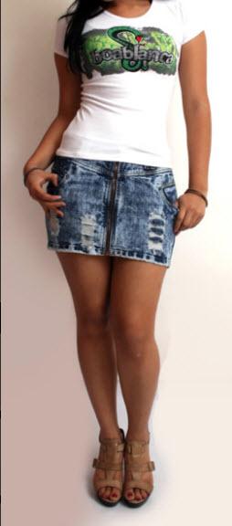 5a08ad33c Minifaldas jeans comprar en La Victoria