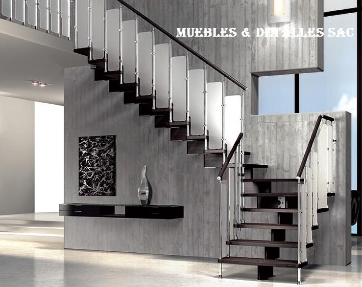 escaleras de acero y cromadas