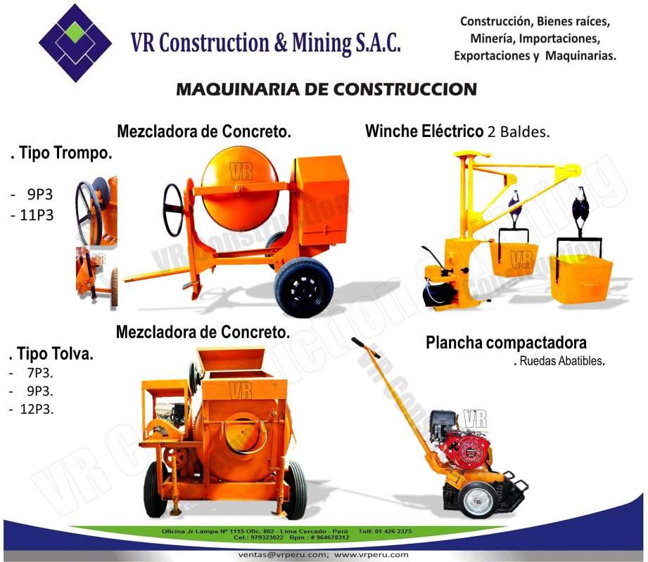 Comprar Maquinas Para la Construcción.