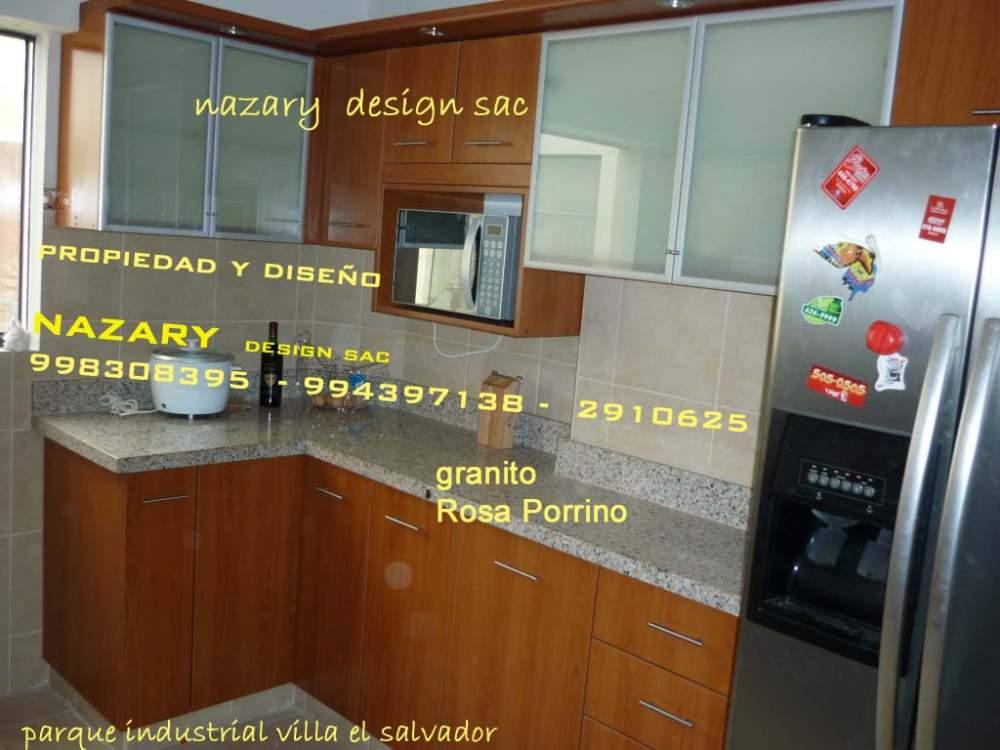 MUEBLES DE COCINA EN MELAMINA - TABLEROS DE GRANITO comprar en Villa ...