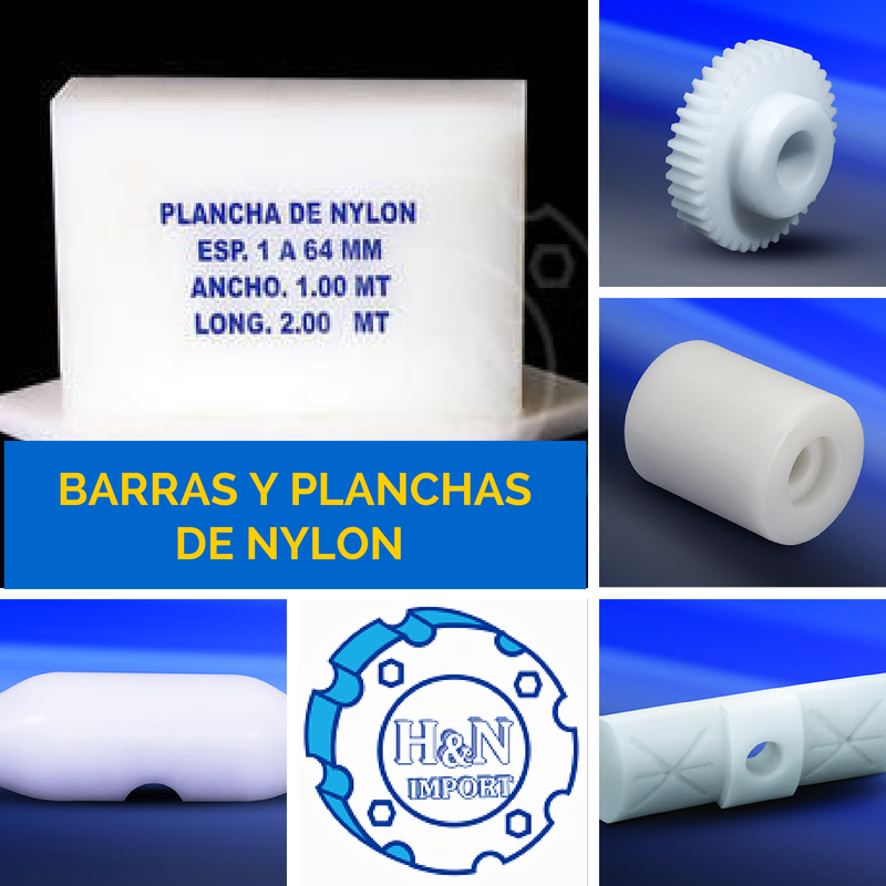 Comprar Barras y Planchas de Nylon, Ertalon, Poliamida 6
