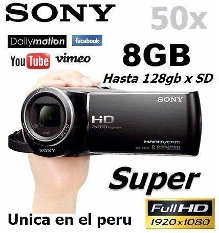 Comprar Filmadora Sony Hdcx290 Full Hd Nueva 50x Zoom 8gb Panoramico NUEVO