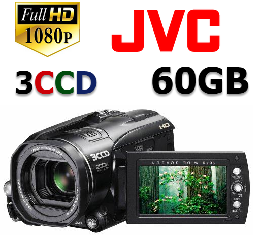 Comprar Filmadora Jvc Everio Hd3u Full Hd, 3ccd 60gb, Video Pro