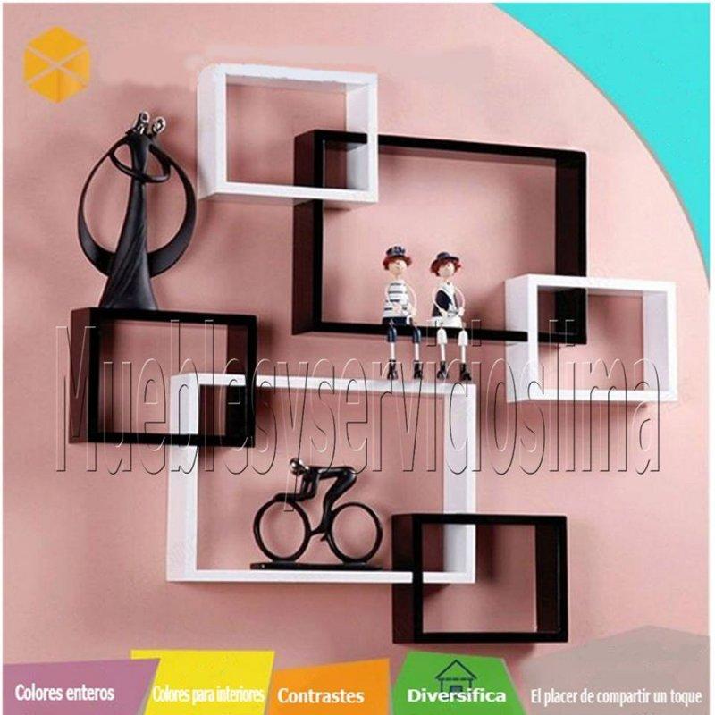Comprar Moderno Cubo Flotante Decorativo de Melamina