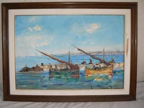 Comprar Pintura Paisaje Marino Firmado Por Etienne Ronda