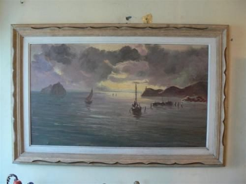 Comprar Antigua Pintura Oleo Sobre Tela Firma Piaggi