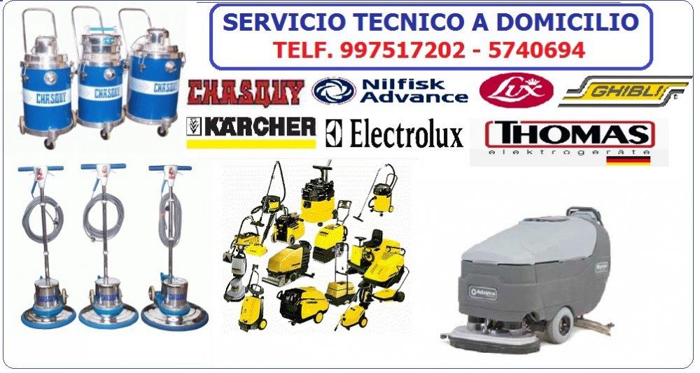 Comprar SERVICIO TECNICO PARA LUSTRADORAS Y ASPIRADORAS/CHASQUY, THOMAS, ELECTROLUX, KARCHER, OTROS/997617202