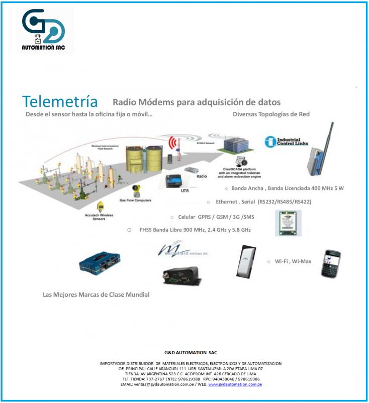 Comprar Servicios de control y telemetria