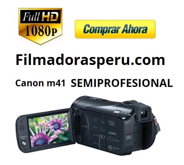 Comprar Filmadora Canon M41 Full Hd Sensor Pro Doble Ranura Sd, 32gb