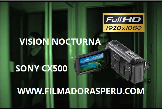Comprar Filmadora Sony Cx500 Full Hd Foto Flash 32gb Nightshot vision nocturna