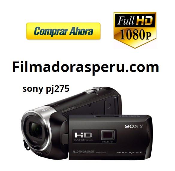 Comprar Filmadora Sony Pj275 Full Hd Wi-fi Con Proyector integrado