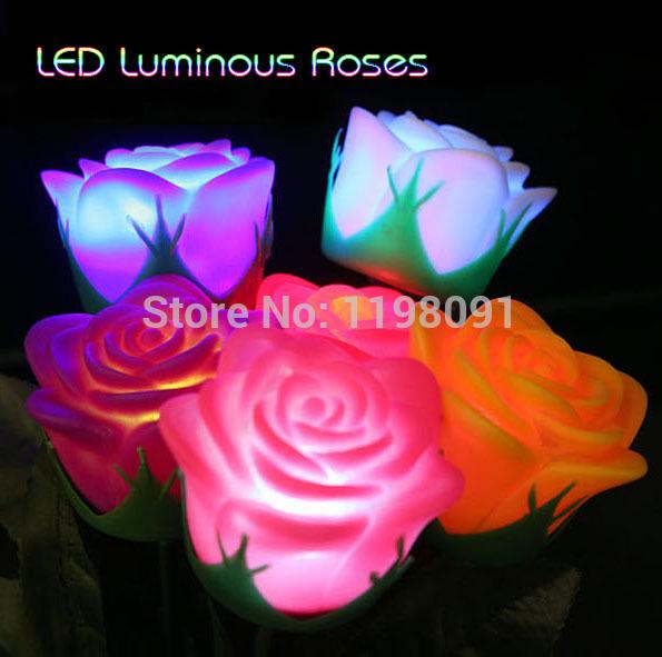 Comprar Flores rosas led luces cambiantes multicolor para empresas catering y otros