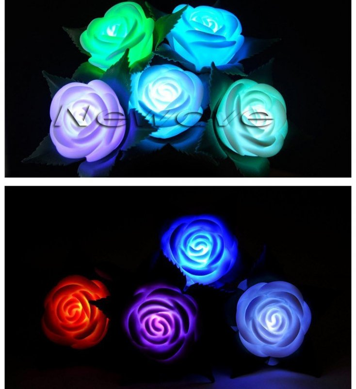 Comprar Flores Rosas Led Luminozas Multicolor Al Por Mayor Y Menor