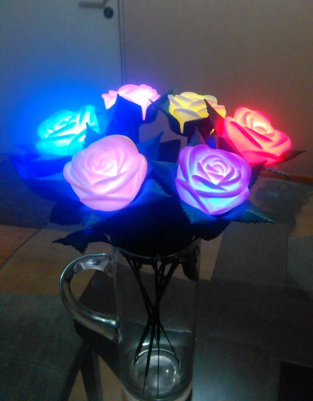 Comprar Flores Rosas Luminozas Led Al Por Mayor Y Menor