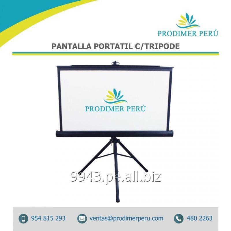 Comprar Pantalla O Ecran de proyeccion retractil tripode 2.14x2.14 Mts antireflex