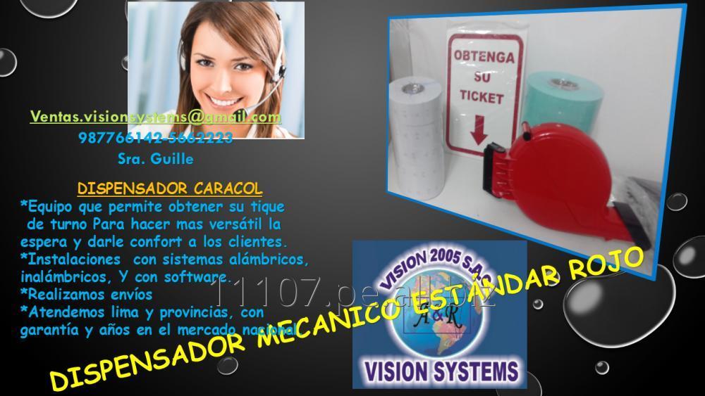 Comprar DISPENSADORES DE TICKETS MECANICO ROJO