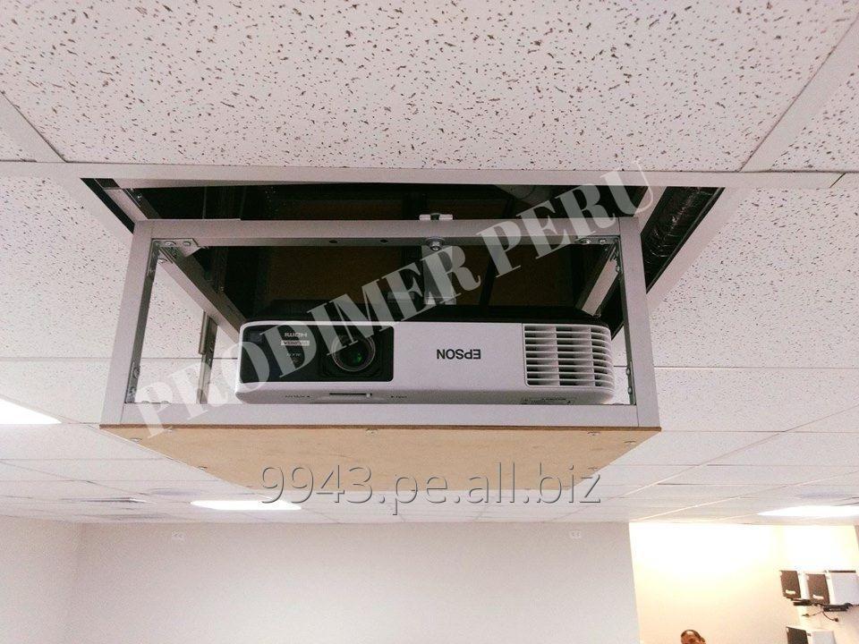Comprar Rack de aluminio elevador eléctrico para proyector multimedia con pulsador y control remoto
