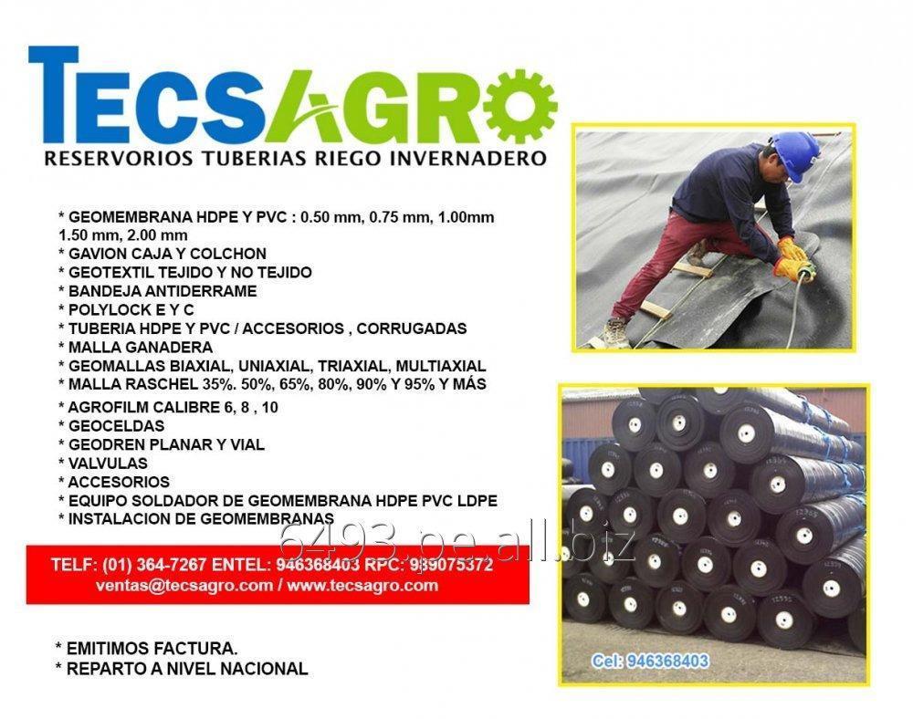 Comprar GEOMEMBRANA HDPE PVC, GAVION CAJA Y COLCHON, TUBERIA HDPE PVC VENTAS EN TODO EL PERU