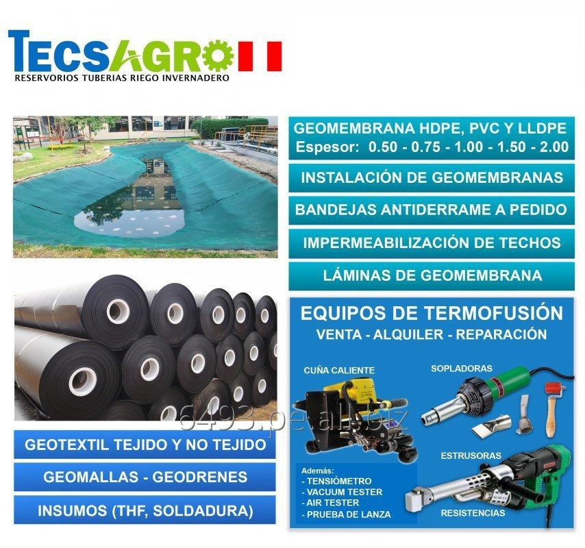 Comprar VENTA DE GEOMEMBRANA HDPE Y PVC 0.50 mm - 2.00 mm