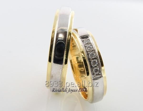 Comprar Alianzas de matrimonio oro 18k peruano