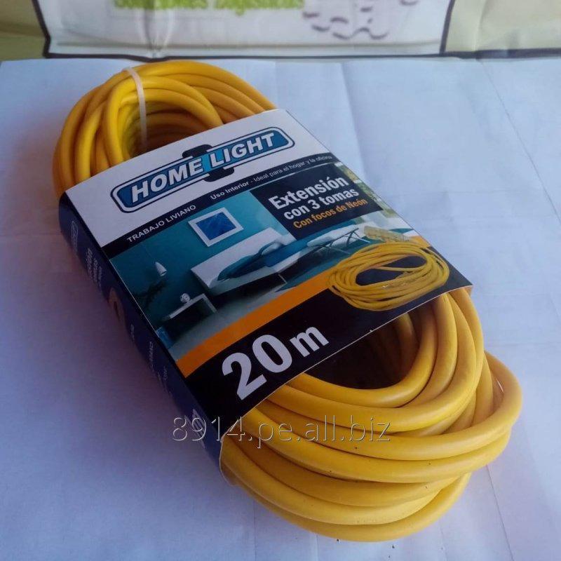 Comprar Extension de 03 Tomas x 20 Mts Amarillo - Home Light