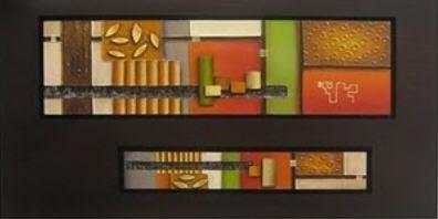 cuadro al oleo con marco en alto relieve estilo