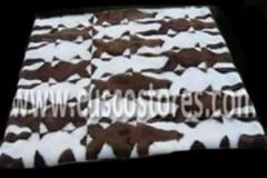 Cover-carpet made of animal skin, canopy