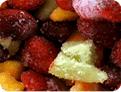 Frutas congeladas.