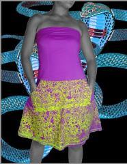 Vestidos  de Telas de Algodón con Motivos Shipibos