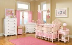 Dormitorio bebe niñas.