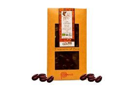 Barra de chocolate con café tostado