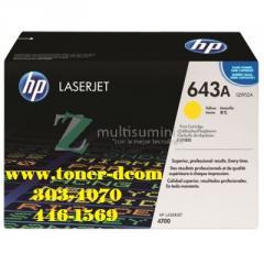 TONER HP Q5952A (643A) L.J. 4700 / YELLOW