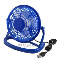 Mini Ventilador USB para Escritorio – color AZUL
