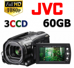 Filmadora Jvc Everio Hd3u Full Hd, 3ccd 60gb, Video Pro
