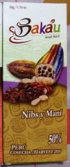 Milk 50% Chocolate Peanut & Nibs