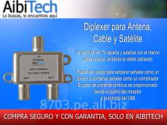 Diplexer - Con un solo cable Mezcla señal TV con señal Satelital