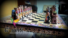 Chess set Inca vs Spaniards / Ajedrez Inca vs españoles