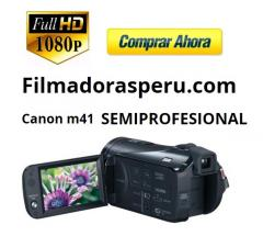 Filmadora Canon M41 Full Hd Sensor Pro Doble Ranura Sd, 32gb