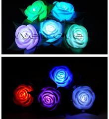 Flores Rosas Led Luminozas Multicolor Al Por Mayor Y Menor
