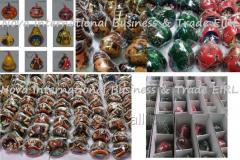 Adornos para árbol de Navidad hechos a mano - Nacimientos Colgantes Navideños de Mate Burilado - Artesanía peruana