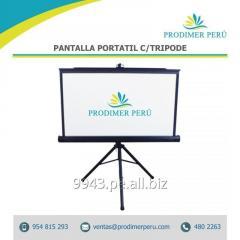 Pantalla O Ecran de proyeccion retractil tripode 2.40x.1.45 Mts antireflex