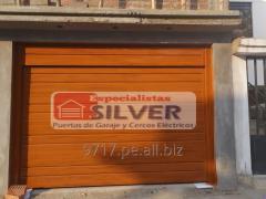 Puertas levadizas seccionales cercos eléctricos ESPECIALISTAS SILVER