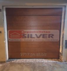 Sistema para puertas levadizas seccionales cercos eléctricos ESPECIALISTAS SILVER 944437627