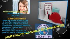 DISPENSADORES DE TICKETS MECANICO ROJO