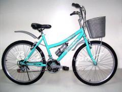 Bicicleta Dama Campera con Canasta Aro 26 de Aluminio 18 Cambios