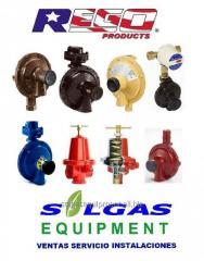 Rego reguladores para gas