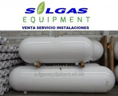 Tanque horizontales para gas