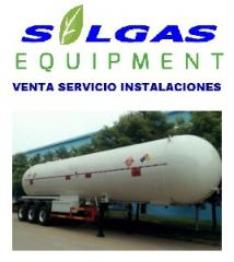 Tanque cisternas para gas